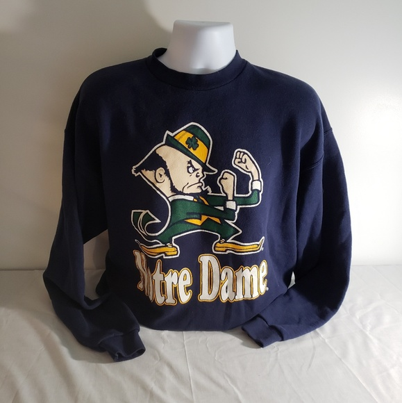 Vintage Sweaters Mens Size Xl Navy Blue Notre Dame Sweater Poshmark